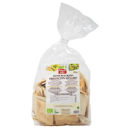 Mini Crackers de Trigo con Sésamo Bio 250g
