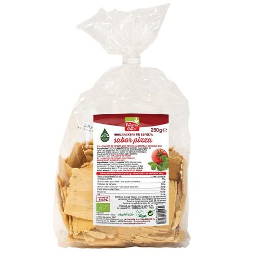 Mini Crackers de Espelta Sabor Pizza Bio 250g