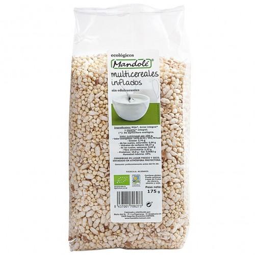 Multicereales Inflados (Arroz Espelta Mijo) Sin Edulcolorantes Bio 175g