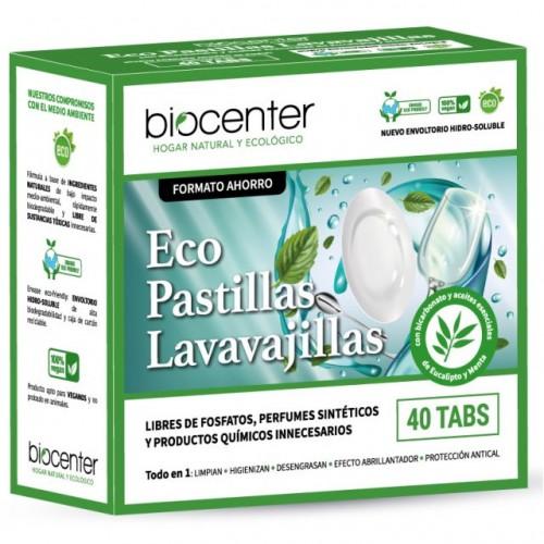 Detergente para Lavavajillas en Pastillas Eucalipto y Menta Biocenter 40tabs