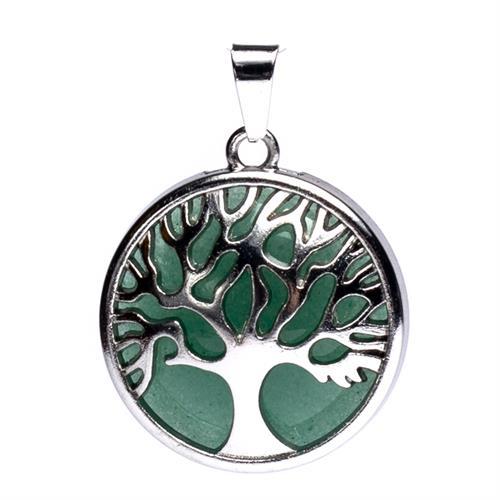 Colgante Árbol de la Vida con Aventurina Verde 3cm