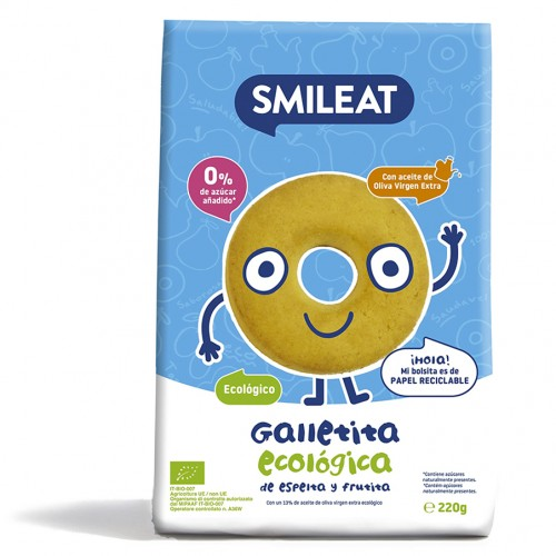 Galletas Infantiles de Espelta y Manzana Bio 220g