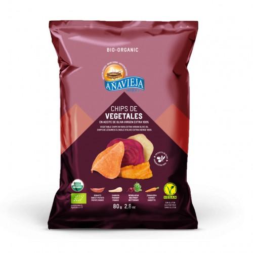 Chips de Vegetales Eco en Aceite de Oliva Bio 80g