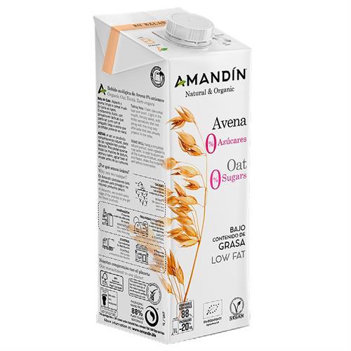 Bebida de Avena Cero Azúcares Amandin Bio 1L