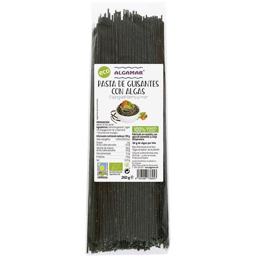 Pasta de Guisantes con Espagueti de mar y Espirulina Algamar Bio 250g