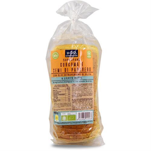 Super Pan con Cúrcuma y Semillas de Amapola Sottolestelle Bio 400g
