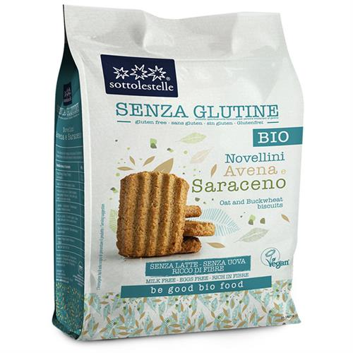Galletas Novellini Avena y Sarraceno Sin Gluten Sottolestelle Bio 250g