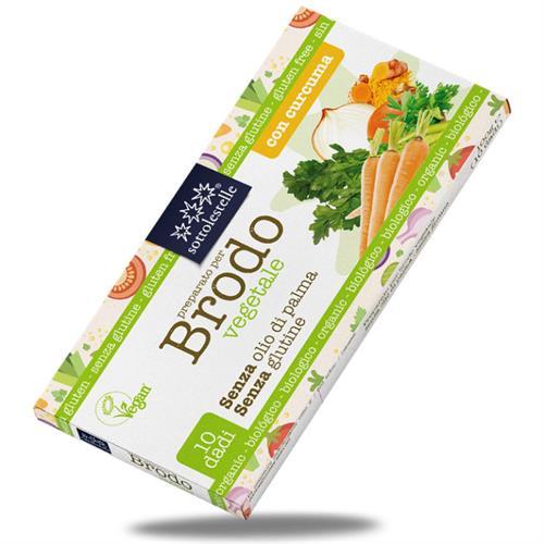 Cubitos de Caldo Vegetal con Cúrcuma Sottolestelle Bio 100g