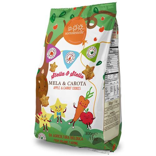 Galletas Infantiles Manzana y Zanahoria Stella & Stello Sottolestelle Bio 300g