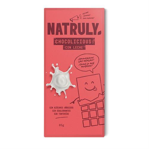 Chocolicious con Leche Natruly 85g