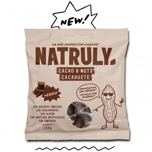 Cacao & Nuts Negro Cacahuete con Chocolicious Natruly 150g