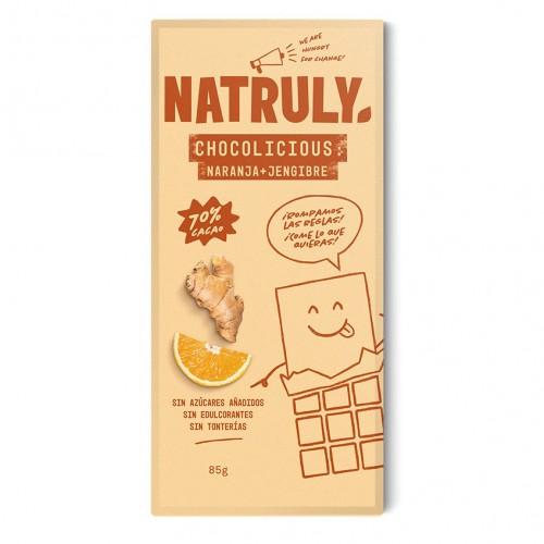 Chocolicious con Naranja y Jengibre Natruly 85g
