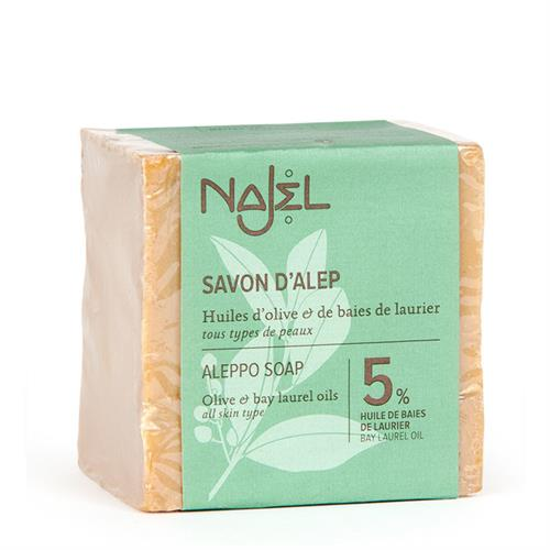 Jabón de Alepo con Aceite de Laurel 5% Najel 190g