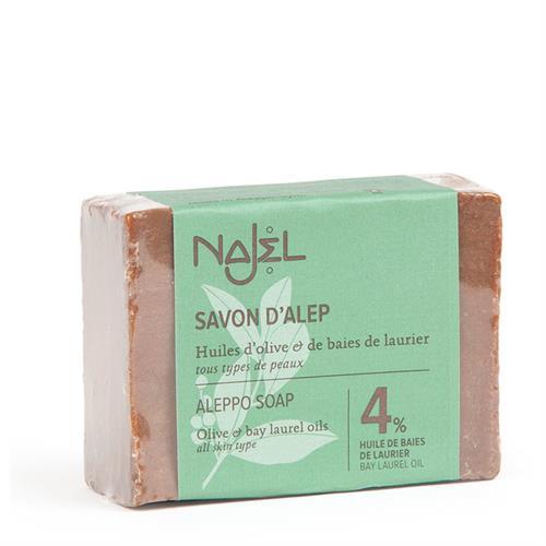 Jabón de Alepo con Aceite de Laurel 4% Najel 155g