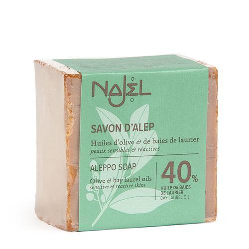 Jabón de Alepo con Aceite de Laurel 40% Najel 185g