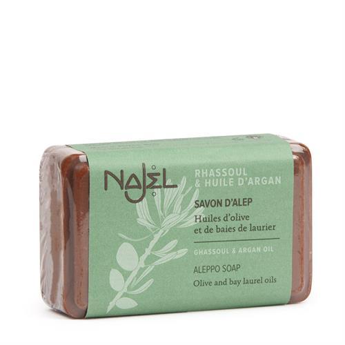 Jabón de Alepo con Rhassoul y Aceite de Argán Najel 100g