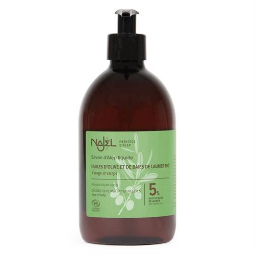 Jabón de Alepo Líquido con Aceite de Laurel 5% Najel 500ml