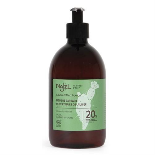 Jabón de Alepo Líquido con Aceite de Tuna 20% Najel 500ml
