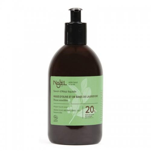 Jabón de Alepo Líquido con Aceite de Laurel 20% Najel 500ml