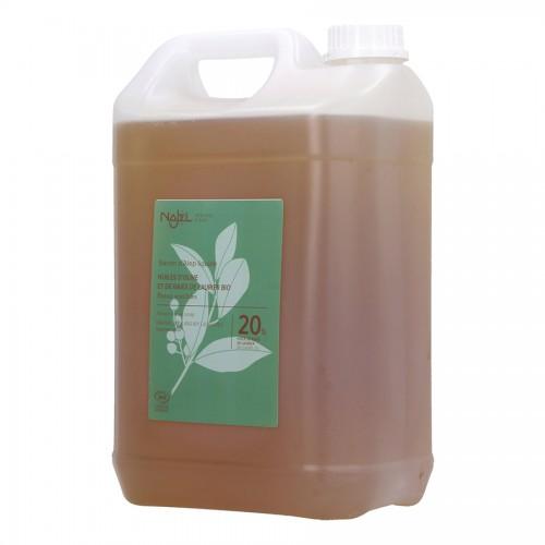Jabón de Alepo Líquido con Aceite de Laurel 20% Najel Bio 5L
