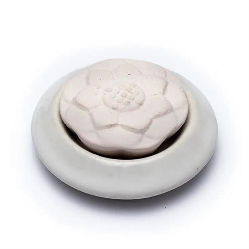 Difusor con Piedra Aromática Loto Blanco 7,5cm
