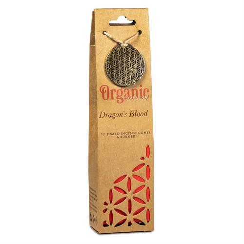 Quemador y Conos de Incienso Sangre de Dragón Organic Goodness 72g