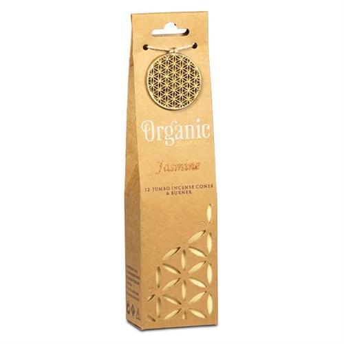 Quemador y Conos de Incienso Jazmín Organic Goodness 72g