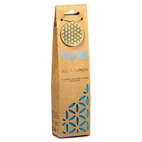 Quemador y Conos de Incienso Nag Champa Organic Goodness 72g