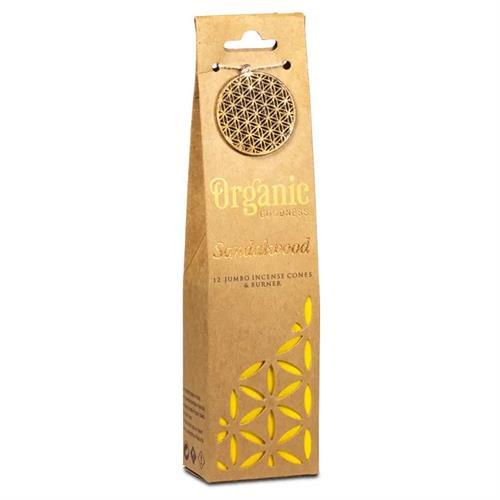 Quemador y Conos de Incienso Sándalo Organic Goodness 72g