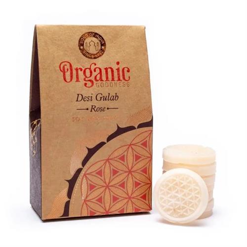 Pastillas de Cera de Soja Perfumada Rosa Organic Goodness 40g