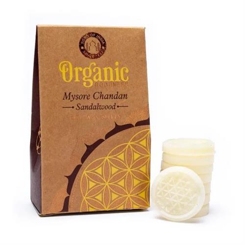 Pastillas de Cera de Soja Perfumada Sándalo Organic Goodness 40g