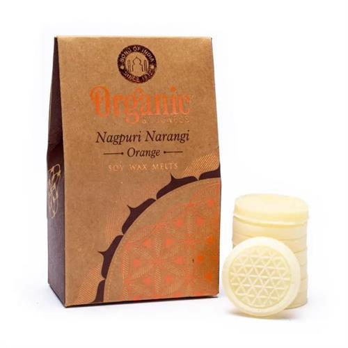 Pastillas de Cera de Soja Perfumada Naranja Organic Goodness 40g