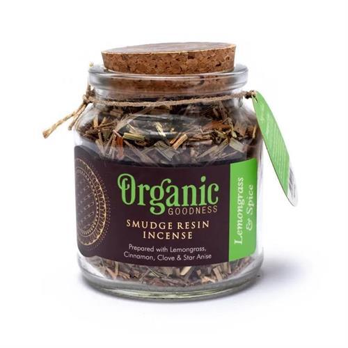 Resina de Incienso Smudge de Citronela y Especias Organic Goodness 80g