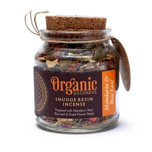 Resina de Incienso Smudge de Mandarina y Laurel Organic Goodness 80g