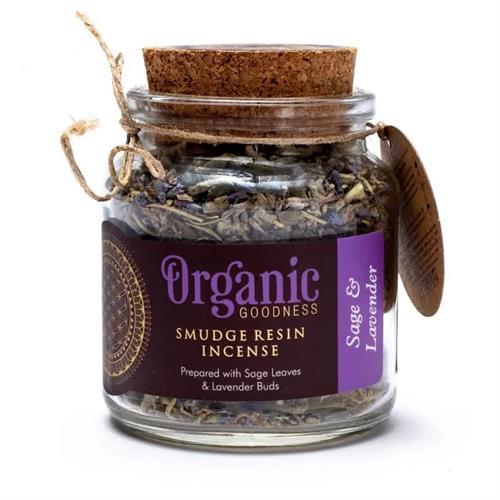 Resina de Incienso Smudge de Salvia y Lavanda Organic Goodness 80g