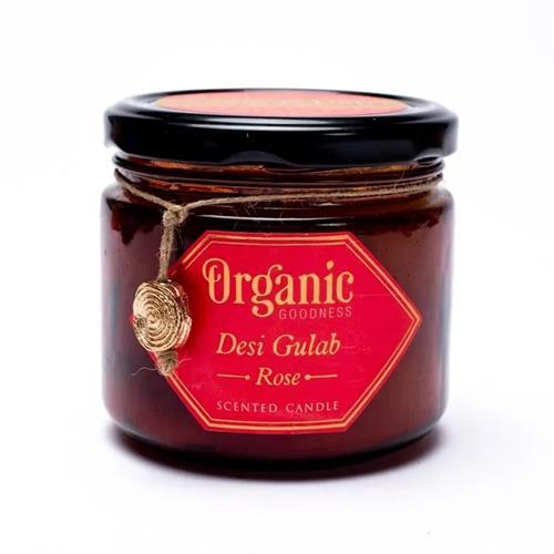Vela de Cera de Soja Rosa Organic Goodness 200g