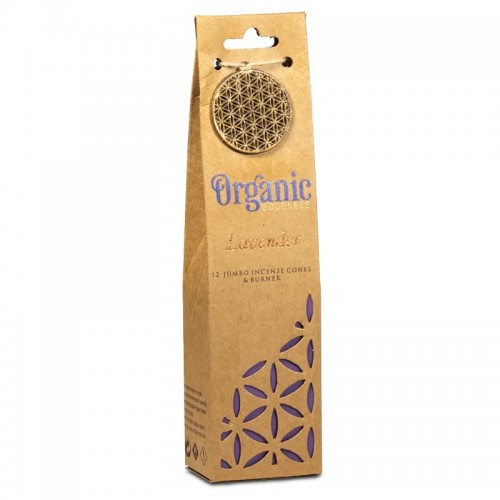 Quemador y Conos de Incienso Lavanda Organic Goodness 72g