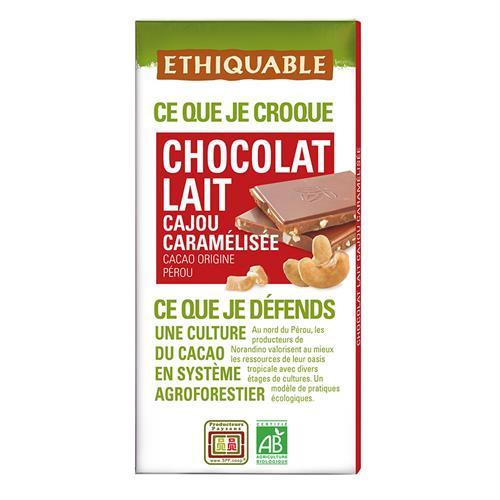 Chocolate con Leche y Anacardos Bio 100g