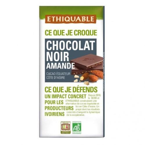 Chocolate Negro con Almendras Bio 100g