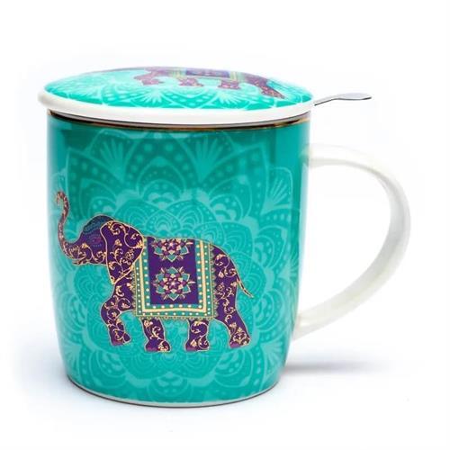 Juego de Taza de Té Elefante Indio 400ml