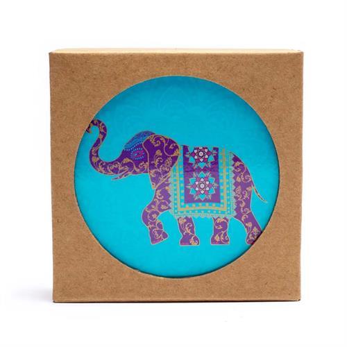 Juego de 6 Posavasos Elefante Indio