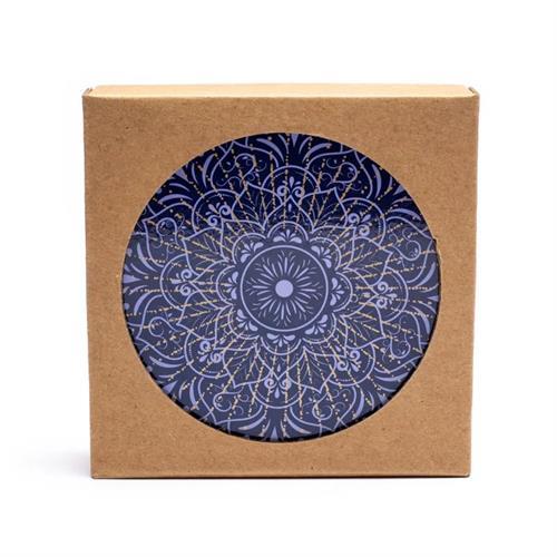Juego de 6 Posavasos Mandala Azul Oscuro