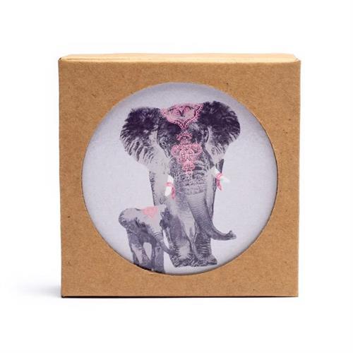 Juego de 6 Posavasos Elefante