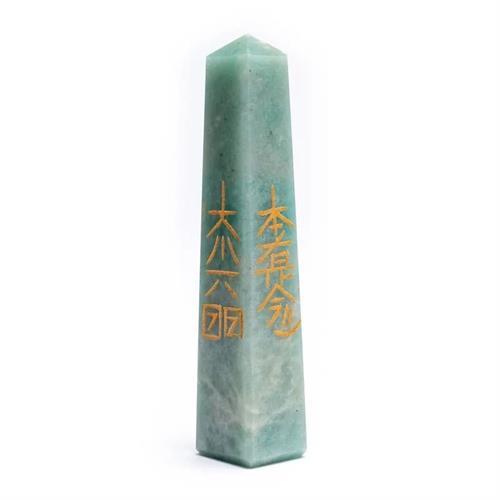 Obelisco Reiki de Amazonita 7,5x10cm