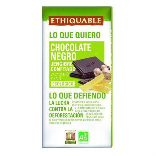 Chocolate Negro con Jengibre Confitado Ethiquable Bio 100g