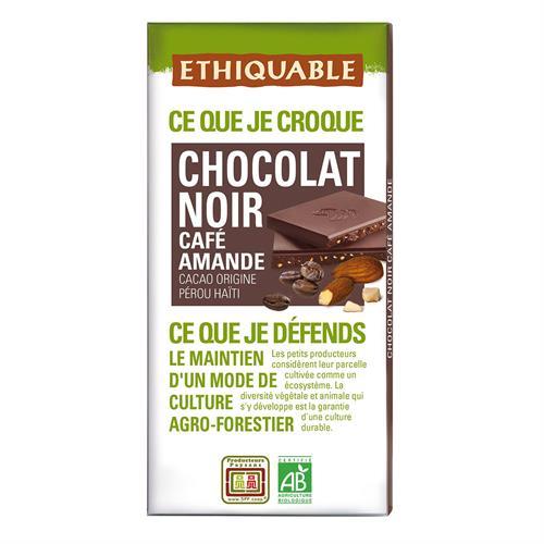 Chocolate Negro con Café y Almendras Ethiquable Bio 100g