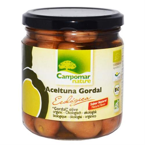 Aceituna Gordal Entera Sabor Natural Campomar Bio 350g