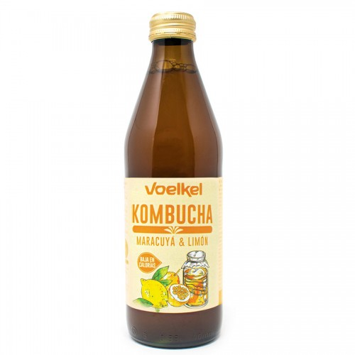 Kombucha de Maracuyá y Limón Voelkel Bio 330ml