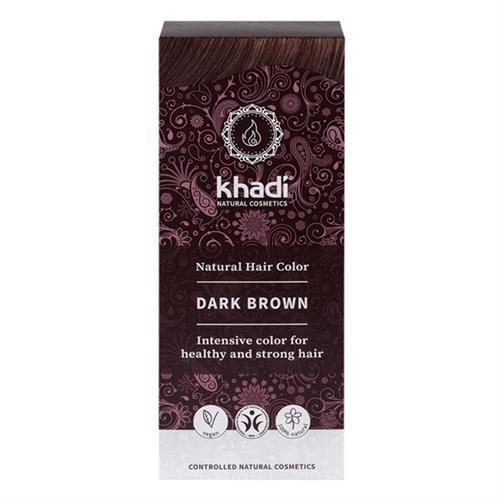 Tinte Natural Henna Color Castaño Oscuro Khadi 100g