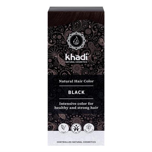 Tinte Natural Henna Color Negro Khadi 100g